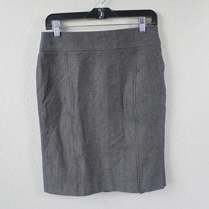 Banana Republic Grey Herringbone Pencil Skirt